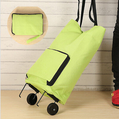Folding Shopping Oxford cloth Tug Cart Bags Durable Washable For Vegetables 2018