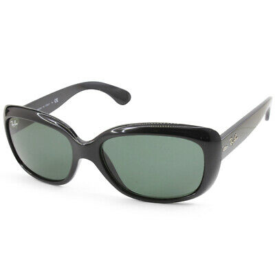 Ray-Ban RB4101 601 Jackie Ohh Polished Black/Grey Green Women's Sunglasses