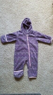 a7282015c COLUMBIA INFANT FLEECE bunting snowsuit 6-12 month - $15.00 | PicClick