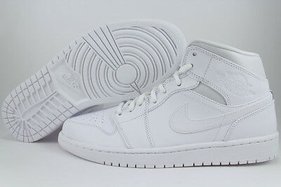 Nike Air Jordan 1 Mid Bg Gs White/black Hi High Womens Girls Kids Us Youth Sizes