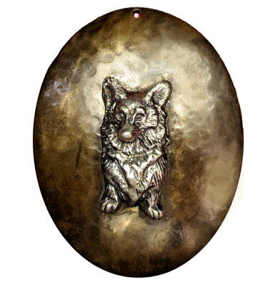 One of a kind Pembroke Welsh Corgi Pendant in Bronze and Sterling