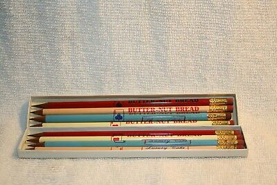 8 Vintage BUTTERNUT BREAD thin wooden advertising pencils new old stock?
