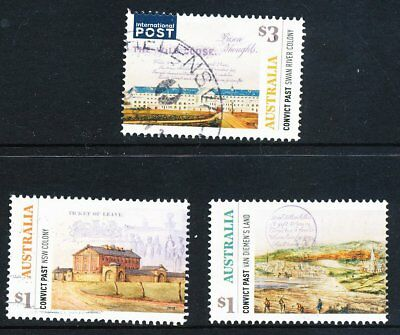 Australia 2018 Convict Past, set of 3 sheet stamps, used