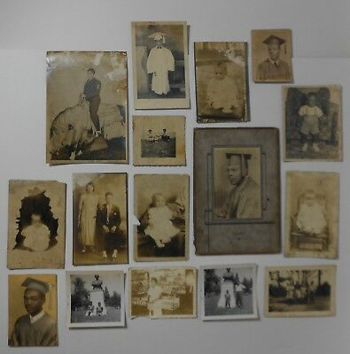 Lot of 16 Antique African American Photographs *Free Shipping*