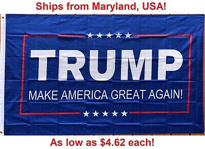 3' x 5' Trump Flag - Make America Great Again - Donald For USA President - US