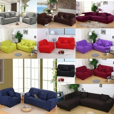 Stretch Elastic Fabric Sofa Cover Sectional/Corner Couch Covers Fit Home Decor