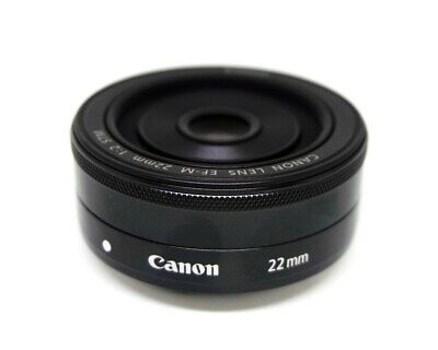 Canon EF-M 22mm F/2 STM Wide Angel Pancake LENS -Black (Bulk Packing)
