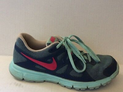 c1204c4d64 Nike Revolution 2 Girls 4 Youth Running Shoes 555090-404 Blue Pink Navy  Sneakers