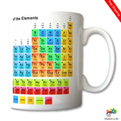 Periodic Table of the Elements Mug Chemistry Student Teacher Gift Cup Gift Retro