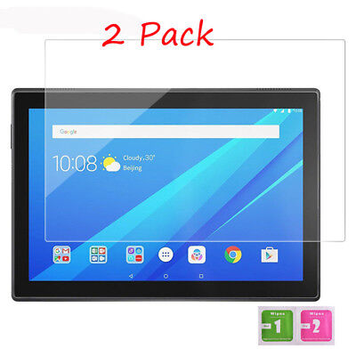 2x Lenovo Tab 4 10'' Guard Cover Protective Tempered Glass Film Screen Protector