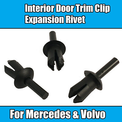 10x Clips For Mercedes E Series Volvo Interior Door Trim Clip Expansion Rivet