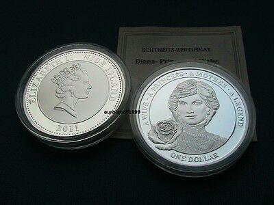 1 Dollar 2011 Lady Diana Versilbert Pp Proof