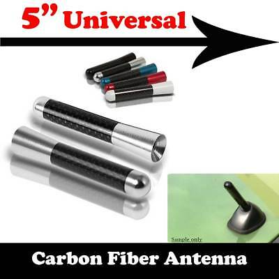 "5/"" Carbon Fiber Aluminum Roof Car Short Antenna Sandblast Black Fit For Kia Vn14"