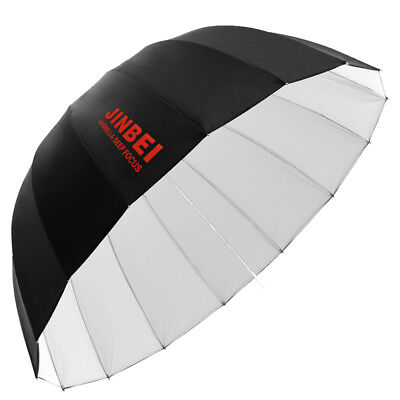 Jinbei Studio Φ105cm 41'' Black & White 16 Rods Deep Umbrella for Flash Lighting
