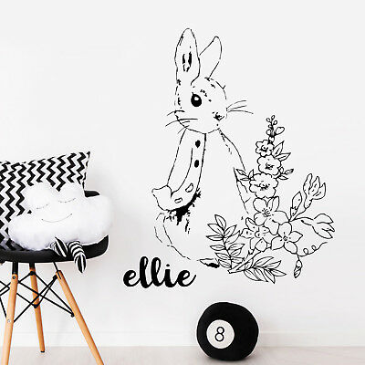 Peter Rabbit Nursery Kids Quote Wall Stickers Childrens Bedroom Vinyl Art Decals