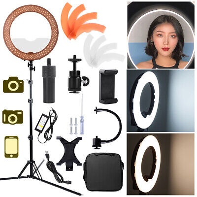 """18"""" 55W 240pcs LED Ring Light Dimmable 5500K Continuous Lighting Photo Video Kit"""