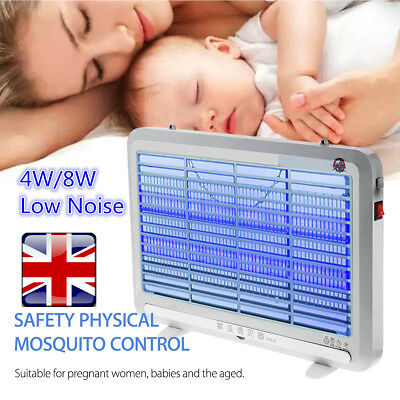 4W/8W LED Mosquito Fly Insect Killer Zapper Lamp Industrial Indoor Pest Control