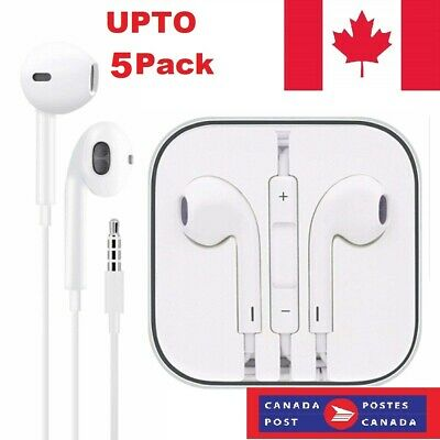 Earphones EarBuds Headphone for iPhone 4 5 6 7 8 X XS XR with Mic and volume