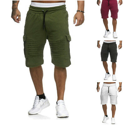 Summer Mens Cargo Shorts Pants Casual Army Combat Camo Camping Trousers Bottoms