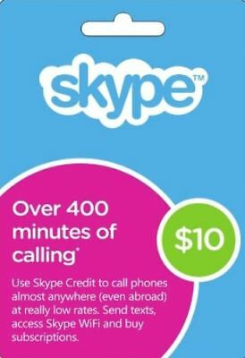 SKYPE Credits/Gift Card $10 (AUD) Ultra Fast Electronic Delivery, 10.5% OFF