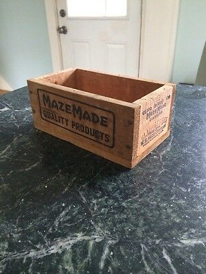 Macy Maisie Mazemade Wooden Box Wood Decorator Sm Sturdy Industrial Antique 7""