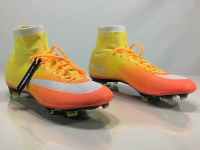 on sale 7138c 91206 Nike Womens Mercurial Superfly IV FG Soccer Cleats Sunset Orange Size 11.5