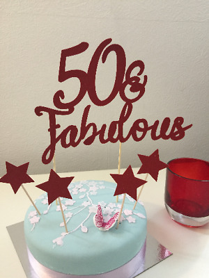 ANY Numbers 50Fabulous Cake Topper 50th Birthday Party