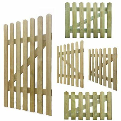 Wooden Picket Garden Gate Impregnated Pinewood Rot-resistant Home Patio 5 Models