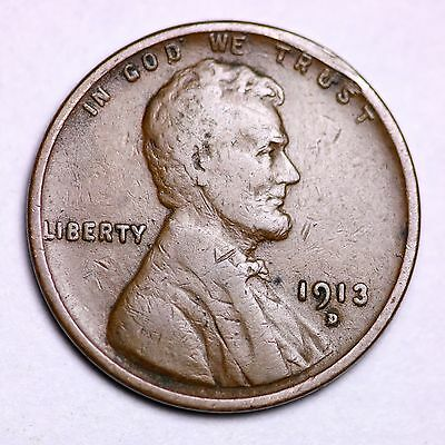 1913-D Lincoln Wheat Cent Penny LOWEST PRICES ON THE BAY! NICE!   FREE SHIPPING!