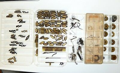 Job Lot Of Clock Parts For The Clock Maker.