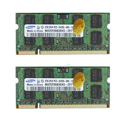 4GB Lot 2x 2GB PC2-6400 DDR2-800Mhz PC Laptop Memory Ram 200Pin 1.8V Für Samsung