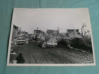 Original WWII 8x10 Photo US 1st Army TANKS in GERMANY December 1944 20