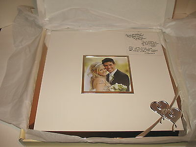 Lenox True Love Autograph Wedding Photo Picture Frame New In Box Silverplate