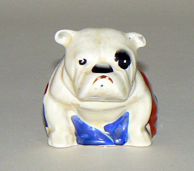 Super, Early, Rare Royal Small Doulton Bulldog With Union Jack