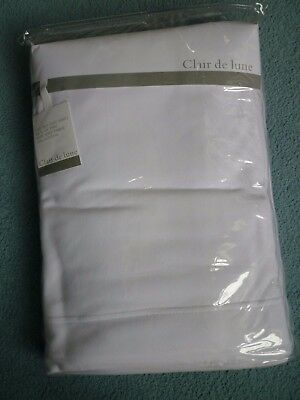 Clair de lune Pack of  2 Cot Bed Flat Sheets White-Brand New-Never Used-Bagged