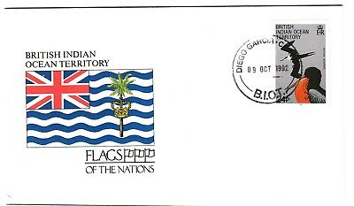 British Indian Ocean Territory, 1992, Ausgabe für Flaggen der Nationen, FDC