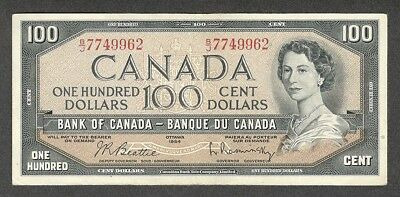 1954 $100.00 BC-43b VF-EF ** SCARCE Bank of Canada QEII OLD One Hundred Dollars