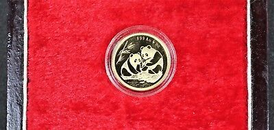 1992 China 1/10oz PROOF Gold 20th Anniversary Sino-Japanese Official Mint Medal