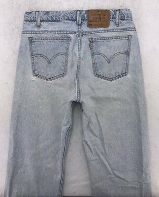 Vintage LEVIS 505 Orange Tab Straight Leg Jeans sz 33x32 (measure 30x32) #5197