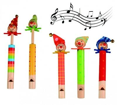 Smiley Gifts - Create A Rhythm - Clown Wooden Musical Whistle - Boys & Girls