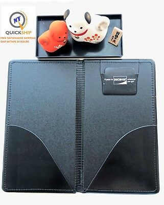 LOT OF 2 New Discover Double Panel Restaurant Check Presenter/Holder Book