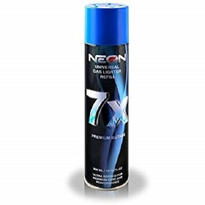 1 CAN NEON BUTANE GAS 300ml 7X REFINED FILTERED LIGHTER REFILL FUEL