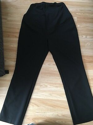 New Look Maternity Over Bump Black Work Trousers Size 14 Leg 32