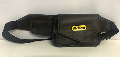 Nikon Zip Up Satchel Bum Bag Fanny Waist Pack Dark Brown