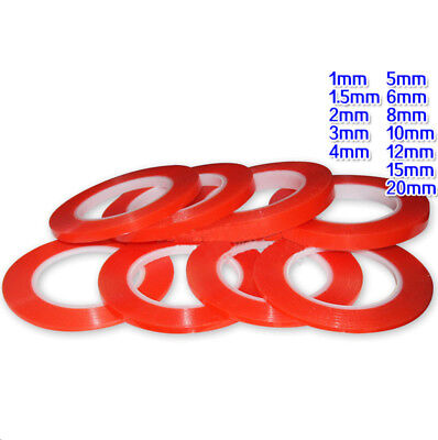 25 Metre Transparent Double Sided Tape With Red OPP Or PET Liner Width 1mm-20mm