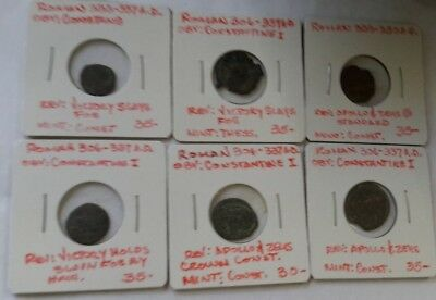 Lot Of 6 Ancient Roman Coins - 259P
