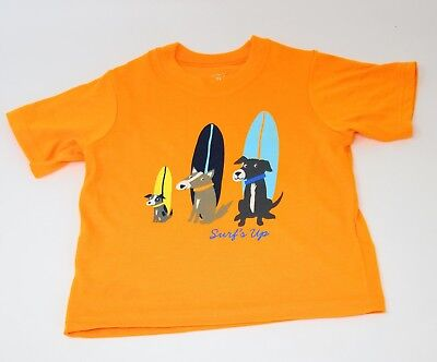 SURF'S UP Surfing Dogs Funny Cute T-Shirt for Toddler Boy * Size 3T