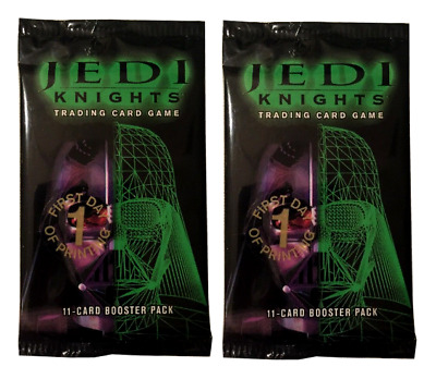 2x Star Wars Jedi Knights 1st Day of Print Premiere Booster Packs FREE SHIPPING