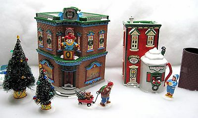 The Original Snow Village Saturday Morning Downtown Dept 56 Lighted Display
