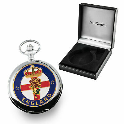 Wedding Anniversary Gift Mens Quality England Enamel Fronted Pocket Watch